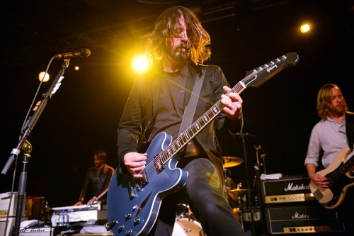 "(via Dave Grohl Debuts Supergroup at 'Sound City' Sundance Premiere | Music News | Rolling Stone)     ""It's going to be a long fucking night – you know that, right?"" Grohl said to the cheering crowd before bringing 17 musicians on stage for three-plus hours of performances from Rage Against the Machine's Brad Wilk, Queens of the Stone Age's Alain Johannes, Nirvana's Krist Novoselic, Masters of Reality's Chris Goss, Lee Ving, Cheap Trick's Rick Nielsen, Slip Knot's Corey Taylor, Rick Springfield, John Fogerty and Stevie Nicks.   Ho. Ly. Shit."