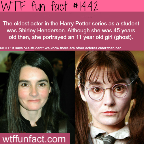 wtf-fun-factss:  Shirley Henderson - Harry Potter  WTF FUN FACTS HOME  /  See MORE TAGGED/ people/celebs FACTS (Source)