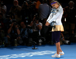 Congratulations to Victoria Azarenka back-to-back Australian Open women's championships. The eighth woman to do so.