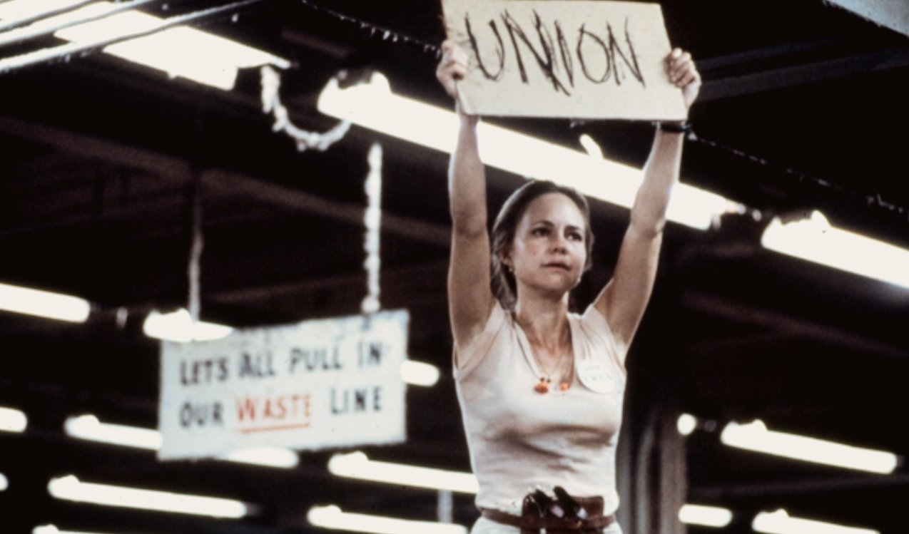 Sometimes I worry about things like: when Sally Fields holds up the UNION sign in that movie Norma Rae, is it just really all about her nipples?