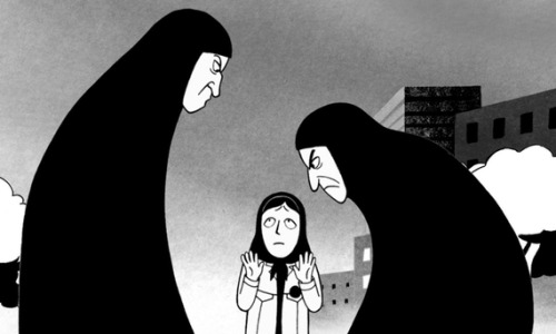 "theatlantic:  Sex, Violence, and Radical Islam: Why 'Persepolis' Belongs in Public Schools  So we're faced with a choice. Do we want to micromanage our schools for ideological purity? Or do we want kids to learn something — even, sometimes, something with which we might disagree? If we want the first, we should keep on as we're keeping on. If we want the second, we need to stop being so worried that teachers might teach the wrong thing that we don't let them teach anything at all. Read more. [Image: Marjane Satrapi]     I'm currently reading Seymour Papert's ""The Children's Machine"" (1993) and can't help but see an overlap. We need to see learners as active and ""independent intellectual agents,"" not merely empty-vessel students waiting for teachers to fill them with prescribed information."