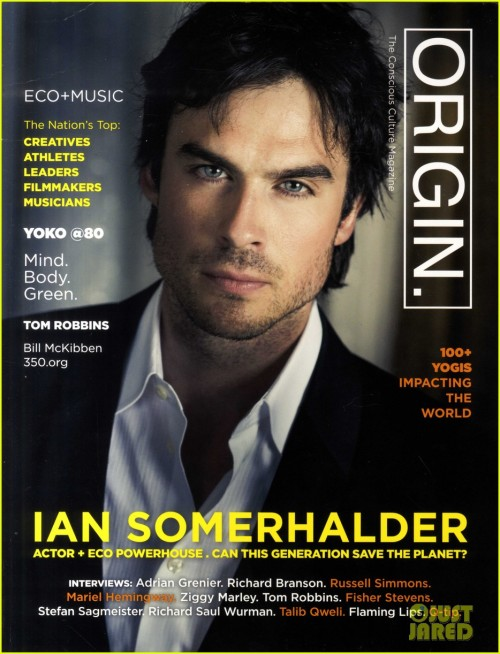 Ah, there it is. Origin Magazine - Ian Somerhalder