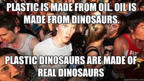 Plastic dinosaurs: It's a re-circle of life… via wilwheaton:  via reddit