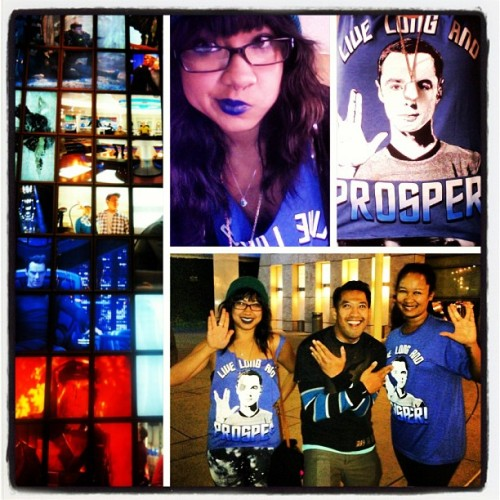 My #StarTrek night :D Had so much fun watching the premiere with my fam! Happy birthday @nfhoover! #amazing movie!!!!
