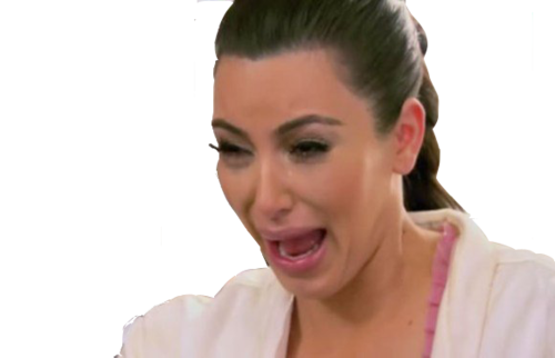 here's transparent kim kardash crying  :'D