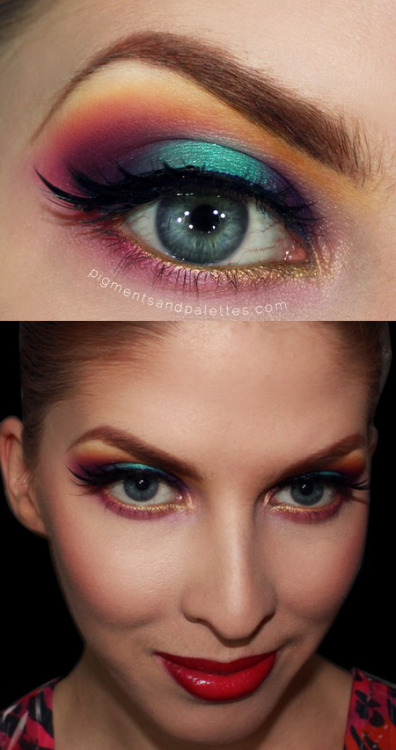 sugarpillcosmetics:  Awe-inspiring Rainbow look by Meredith using exclusively Sugarpill! Gorgeous blending, and the color placement really flatters her beautiful eye shape! https://www.makeupbee.com/look.php?look_id=77457