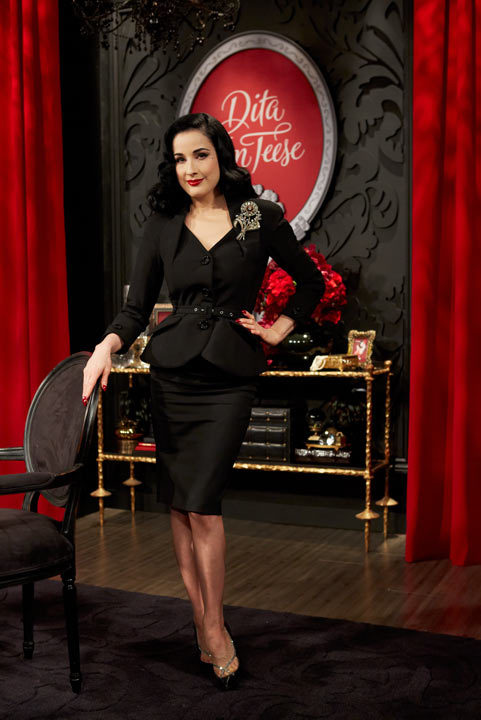 Dita Von Teese's HSN debut, photos taken by Bryan Kasm