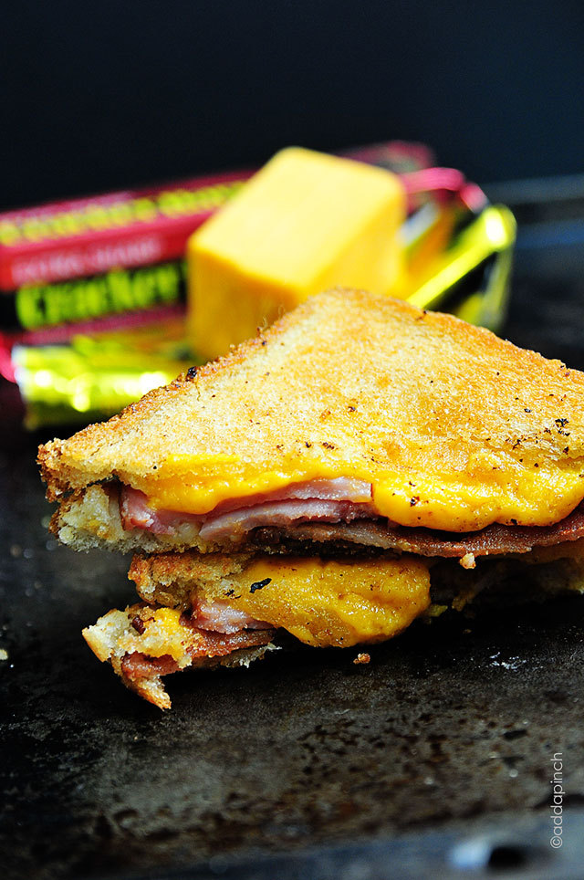gastrogoodies:  Ham & Bacon Grilled Cheese Sandwich