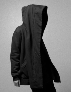themaxdavis:  Oversized hooded coat black from Pleasure Principle