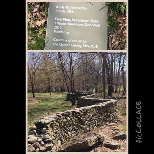 nerding out over #AndyGoldsworthy #art #sculpture (at Storm King Art Center)