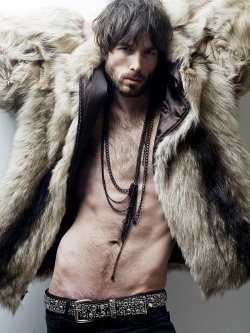 mansexfashion:   Man+Sex=Fashion Enjoy on Facebook https://www.facebook.com/ManSexFashion http://mansexfashion.tumblr.com  Today in… THINSPIRATION: Looking like a BAMF dress in nothing but furs!