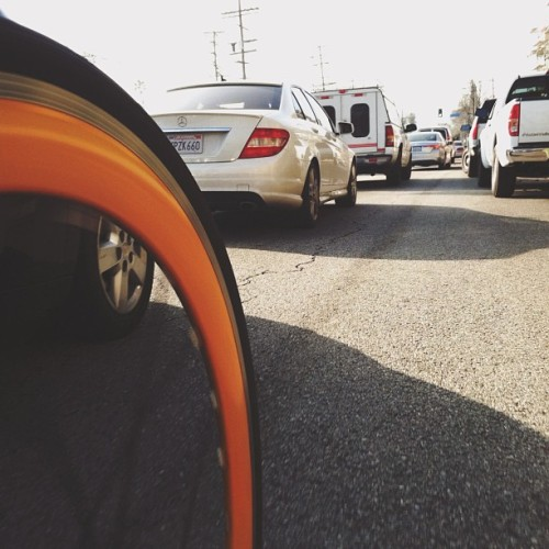 #morningride to #work - #fixie #bike #street #cars #tire  #bicycle