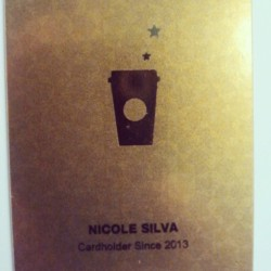 Finally got my Starbucks gold card, yee!