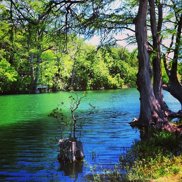 Guadalupe River Kerrville Texas (at Guadelupe River - Louise Hays Park)