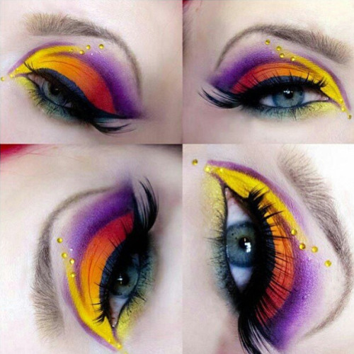 sugarpillcosmetics:  What a beautiful and unique shape! Heidisminke created this exotic EOTD using her Sugarpill Burning Heart palette. http://instagram.com/p/Wdi7m1RRK8/