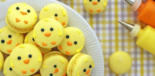 easter chick macarons click here for recipe