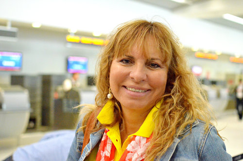 257/365 A lovely lady from Ecuador on the same flight as me. Photographed at Miami International Airport.