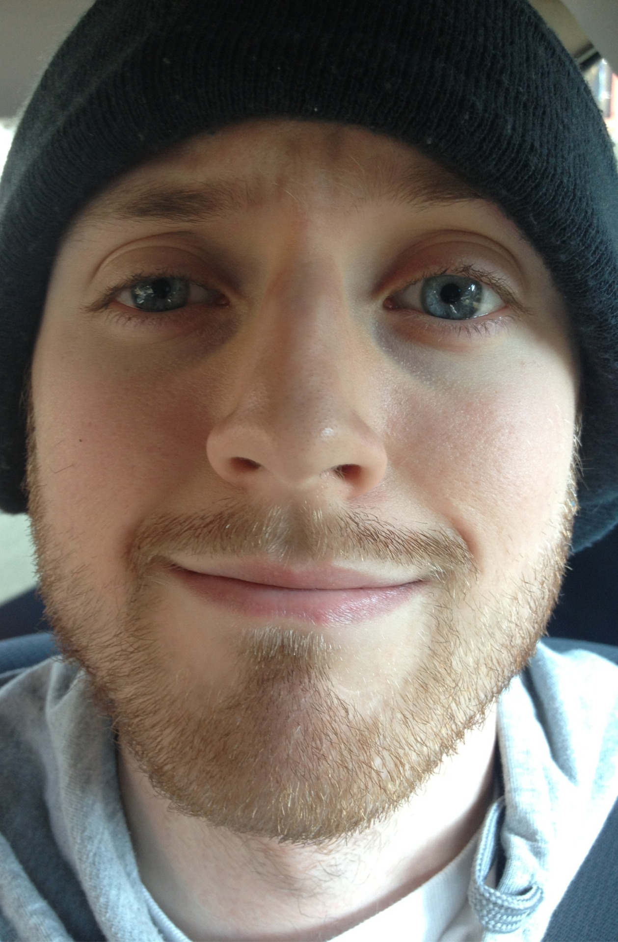 What happens when I trim my beard and stuck waiting in my car? Awkward pictures of myself of course.