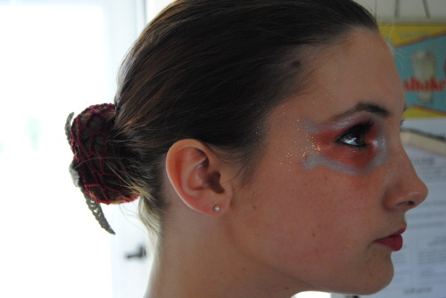 neverletting-yougo:  Recital makeup!  Hey guys look at my beautiful girl and guess what SHES ALL MINE