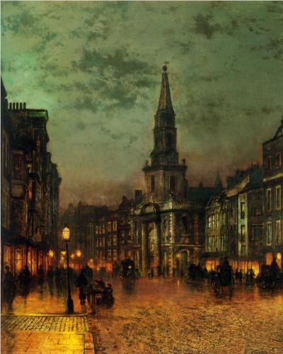John Atkinson Grimshaw - Blackman Street, London (1885)