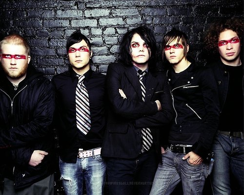 I can't even believe My Chemical Romance broke up. I actually never thought they would, I thought they loved making music that much to never quit. I grew up listening to them. It's what I watched on Fuse when I was like 7 years old, and I loved them instantly when I saw them. I have all there stuff. I have they're 'Revenge' Vinyl, the vest that came with it. I have 'The Black Parade' coffin/booklet, also have they're 'Life On The Murder Scene' DVD. They meant so much to me growing up. They're music had a reflect on me. I saw how they dealt with stuff and how it was perfectly okay to be exactly how I am, and at my age that's really what I needed. I never got to see them, but hopefully somehow I will be able to one day. I love this band and I always will. Forever MCR