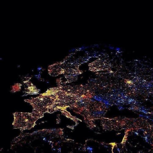 A photo of Europe taken on new years 01/01/2013, courtesy of NASA. (: