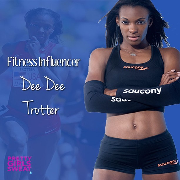 Dee Dee Trotter, a 2012 Olympic Gold and Bronze Medalist in the US women's 4x400m and 400m dash, has made a name for herself. She is a three time Olympian, 2004 Olympic Gold Medalist, Founder of Test Me I'm Clean and a Wilhelmina Model. Representing the athletic brand Saucony since 2010, she makes sprinting look easy. #DTrott400m #PGSRunning #TrackandField #DeeDeeTrotter #Track #Running #fitspiration #fitchicks #igfitness #PrettyGirlsSweat #PGS #Sweatspiration #Fitspiration #fit #motivation #WeightLoss #CleanEating #healthy #body #Health #Fitspo #Sweatspo #Sweat #Exercise #Workout #Fitness #Fitspired