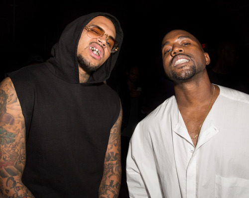 kimkanyekimye:Kanye and Chris at Teyana Taylor's VII listening event 10/20/14