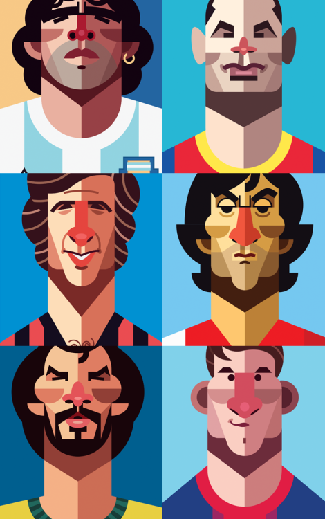 danielnyariillustrations:  Playmakers Preview #3.  25 Legends of football in one Print RELEASED THIS FRIDAY FEBRUARY 22nd 2013. Stay tuned!