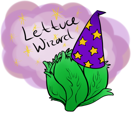 Lettuce Wizard. I don't even remember…  why this conversation happened. But yeah, me and the Charles had some discussion containing lettuce talk and wizardry…