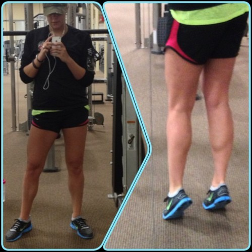 Legs day, my favorite day of the week!!! Love how my calves are starting to look 👍😝 looking forward to not being able to walk today #FrameMagic #fit #fitspo #fitness #happy #love #legs #legday #weights #weightlift #lift #body #hotchicksliftweights #powerhouse  (at Powerhouse Fitness Complex Gym)