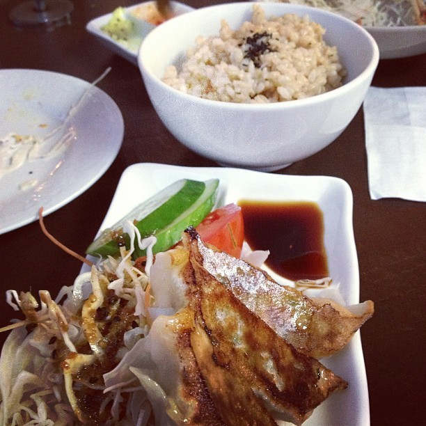 #gyoza and #brown rice #stylehawk #ootd #photoparade   #fashiondiaries #womenswear #lotd #shotoftheday #jj_forum  #candid #photooftheday #igaustralia #outfit #style #picoftheday #iphonesia #bestoftheday #ootd #fashionporn  #lookoftheday  #iphoneography  #sydneystreetstyle #wdywt  #streetstyle #lookbook #melbourne #igersmelbourne #foodporn