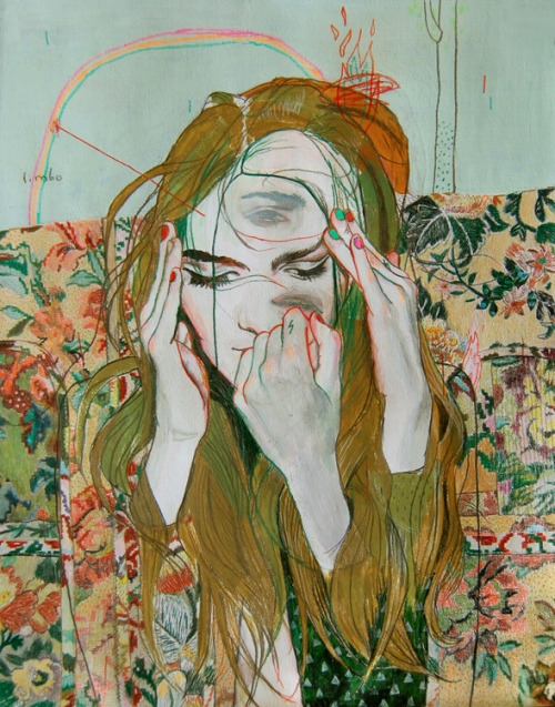 2headedsnake:  Alexandra Levasseur Limbo #3, 2012 acrylics and colored pencils