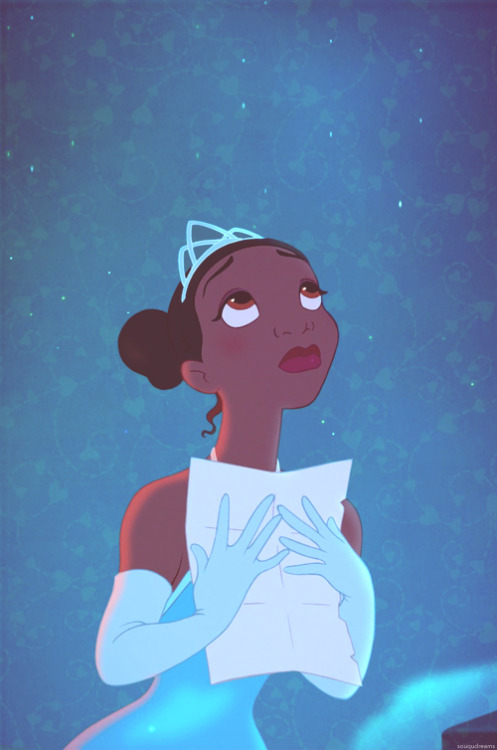 missmaceymouse:  souqudreams:  Princess Tiana  This. This picture right here. This wishing, longing, hoping for that extra oomph that for some reason you can't just get with purely hard work. When you have taken yourself as far as you can go and still can't make it, so you turn to the stars. There is nothing wrong with believing, ever. Even one of the hardest workers Disney has ever shown us exemplifies this. It is okay to wish on stars, it is okay to close your eyes and kiss the clock at 11:11 and hope and pray that some force out of your control will help you out. That is why I love Tiana so much. She is Disney… Disney parks, Disney films, Walt Disney himself.