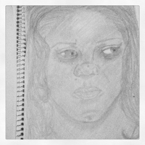 A self portrait of me I had to practice doing before I started on my finales. #art #selfportrait #self #portrait #drawing #sketch #sketchbook #school #project #practice #workinprogress #progress #draw #artwork #photo #picture #tumble #followback