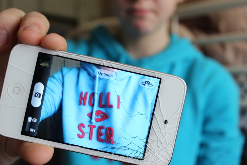 supabrielle:  Cracked screen. ;x
