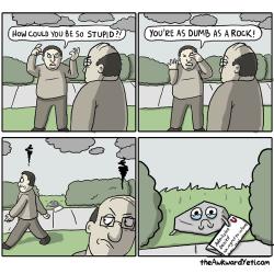 LOL comics uni dumb as a rock