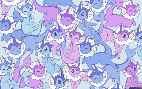 abamosnow:  Commission - Vaporeon Wallpaper by *DragonsDenDA