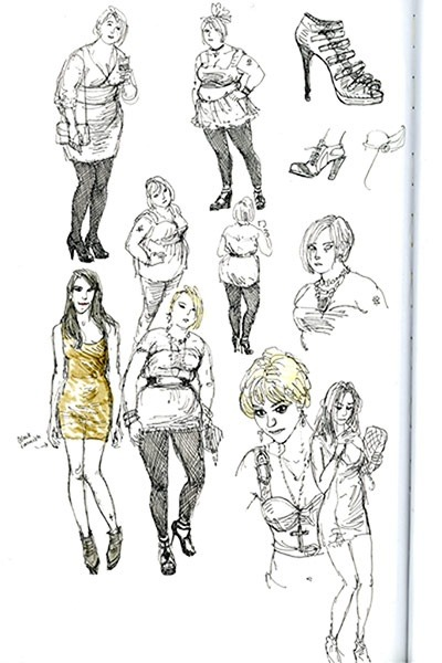Cartoonist Posy Simmonds has been keeping sketchbooks since she began her weekly Guardian strip in the 70s. Here she talks us through some of her pages, and explains why Princess Diana had exactly the come-hither eyes she was looking for… http://bit.ly/136GBNR