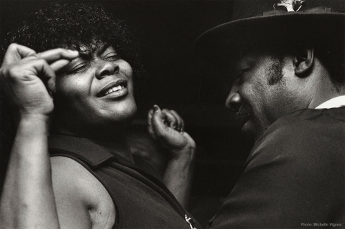 Couple dancing at the Shalimar Club in Oakland, Calif.1981 Photograph by Michelle Vignes