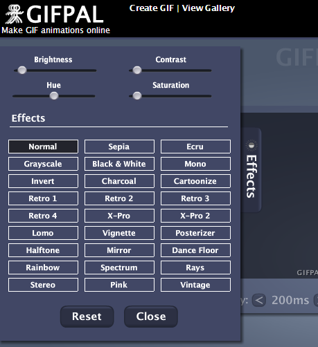 Lots of new effects are now available for making cool GIFs on GIFPAL
