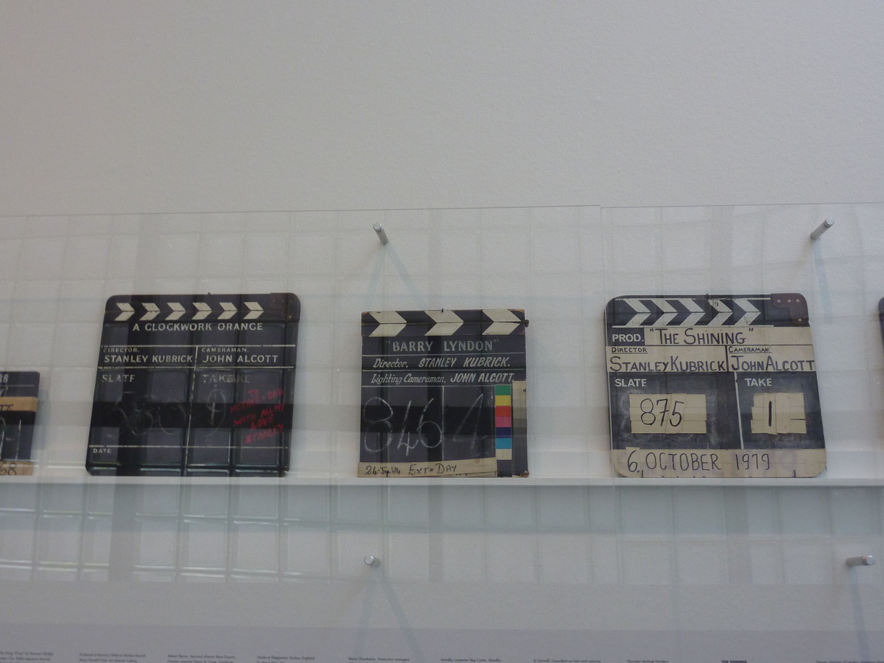 Clapper Boards from Stanley Kubrick's films.