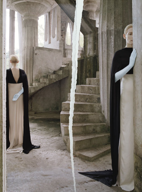 "bienenkiste:  ""Stranger than paradise"". Tilda Swinton by Tim Walker for W May 2013"