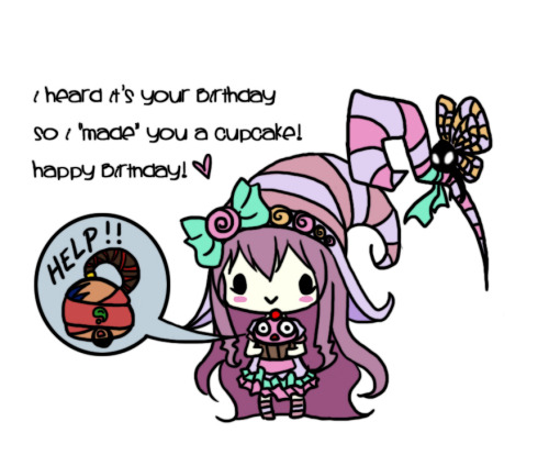 feedercomics:  Happy Birthday Card v2 by ~littleredren