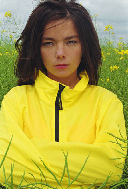 bjork being super young and super mad!
