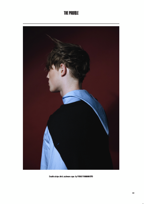 dantebykiko:  ss12 shirt and aw06 knit inside The Profile Magazine