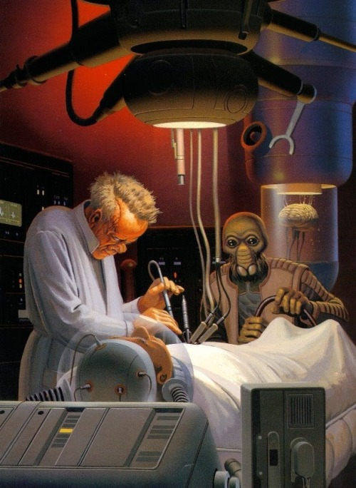 Ralph McQuarrie star wars concept art They're wanted men and have the death sentence on twelve systems doctor