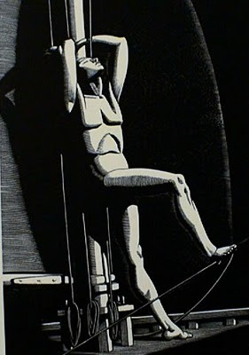 """ Night Watch ""  …. Wood Engraving [1929] by Artist:  Rockwell Kent"