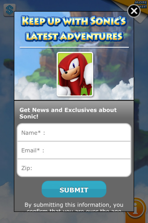 Woah, uh, Sonic… You certainly look red and gullible today…