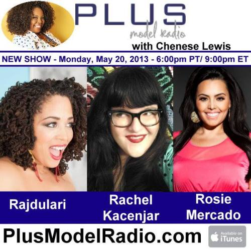 plusmodelmagazine:  Monday on PLUS Model Radio Chenese Lewis interviews Harlem-based Jazz vocalist and plus model Rajdulari Music, owner and artistic director of Re/Dress Online Rachel Kacenjar; and from Nuvo TV's Curvy Girls - Rosie Mercado tells us about her new capsule collection for Sealed with a Kiss Designs Plus Size Boutique, Fuerza! www.plusmodelradio.com
